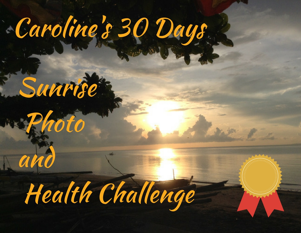 caroline's 30 days sunrise photo and health challenge